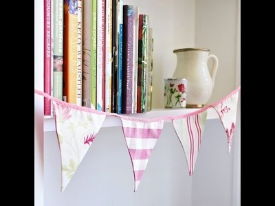 How to make vintage inspired bunting diy - no sew!. sjmwell