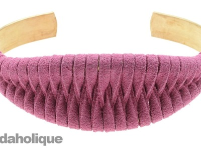 How to Weave Ultra Suede Cord onto a Brass Cuff