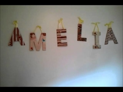 It's Craft Time! (Easy Nursery Wall Letters)