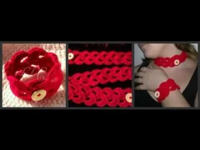 Lace Crochet bracelet and Necklace. Inspired by Doceriteam here on you tube