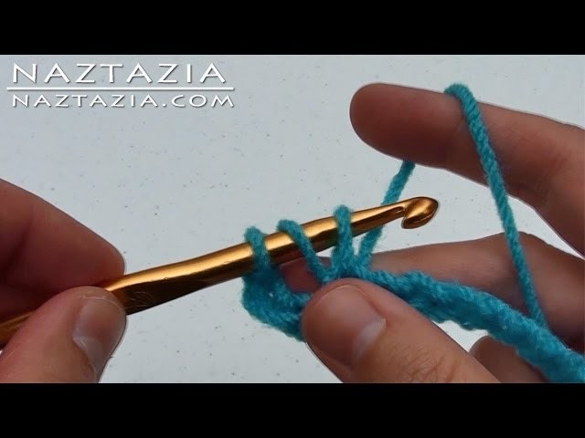 Learn How to Crochet LEFT HAND Part 2 - Half Double Crochet Slip Stitch Chain DC HDC SLST