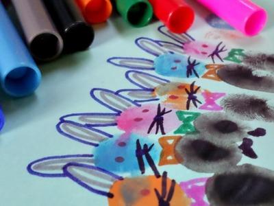 Make Animal Finger Print Art - DIY Crafts - Guidecentral