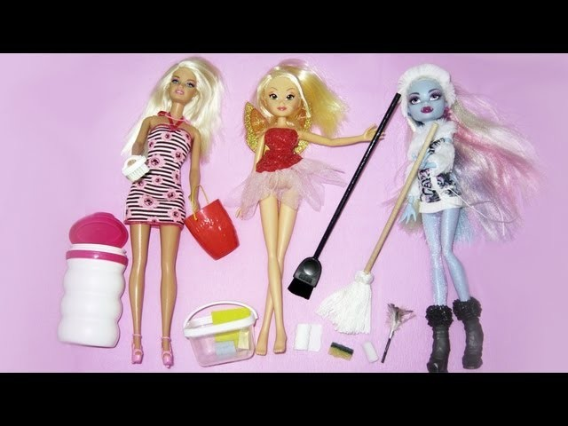 Make doll cleaning supplies  - Recycling - Doll Crafts