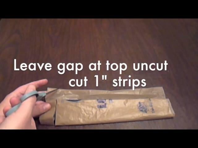 Making 1 ply Plastic Yarn (Plarn)