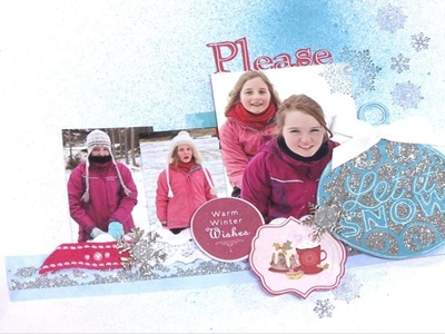 Making a Winter Scrapbook Page   In The Studio