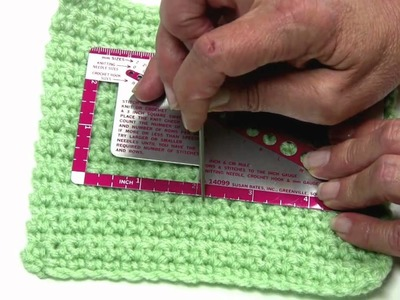 Measuring Crochet Gauge by Red Heart with Kathleen Sams