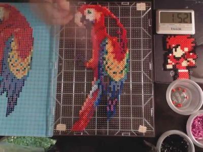 Perler Beads Parrot Timelapse