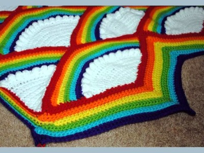 Rainbow Afghan Crochet Pattern