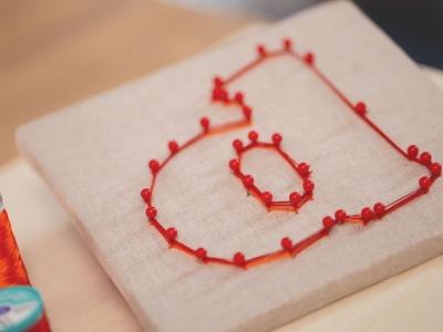 Robert's Easy String Art Project || KIN DIY