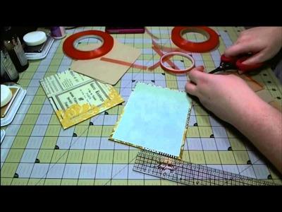 Scrapbook Mini Album: MME Sunshine Paper Bag Album
