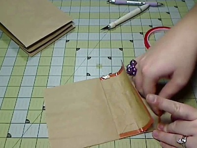 Scrapbook Mini Album: Paper Bag Album Assembly