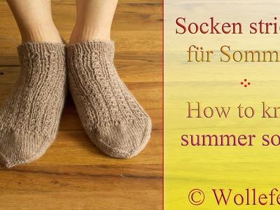 Socken stricken für Sommer - Knitting socks for summer - 3