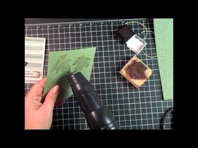 Stampin' Up! Masculine Card Tutorial- Embossing with Craft Ink