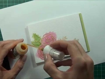 Watercolour Sympathy made easy with Tim Holtz Distress Markers for Scrapbook Boutique!