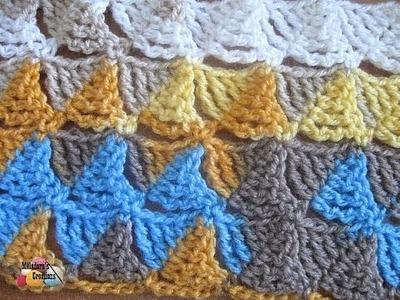 Wedge Stitch - Left Handed Crochet Stitch Tutorial