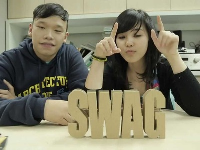 Youth Creative Corner DIY Tutorial : HOW TO MAKE STANDING BLOCK LETTERS