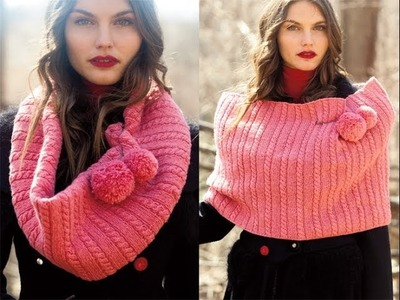 #2 Pompom Capelet, Voge Knitting Early Fall 2011