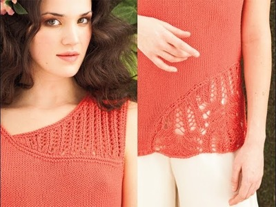 #23 Lace Back Top, Vogue Knitting Spring.Summer 2012