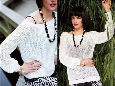 #5 Fine Mesh Pullover, Vogue Knitting Spring.Summer 2014