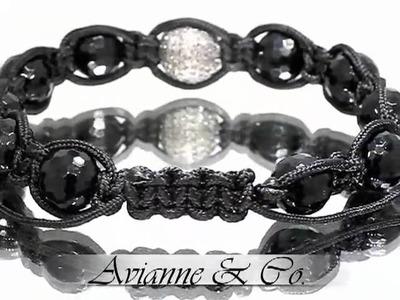 Ball Bead Onyx Bracelet 1.50 Ctw (Diamond Bracelet)