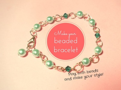 Beaded Bracelet ♥ Jewelry TUTORIAL for beginners ~ (with PandaHall materials)