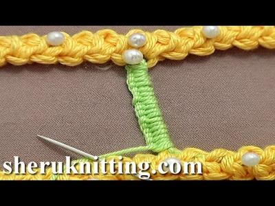 Buttonhole Stitch Bar. Bridge Tutorial 50 Part 3 of 9 Romanian Point Lace