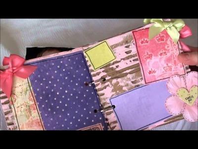 Card Board Scrapbook Mini Album