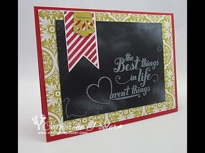 Chalkboard Technique with Stampin' Up