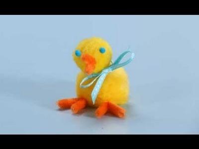 Chick Pom-Pom Easter Crafts