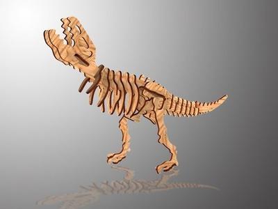 CHICO CRAFT Tyrannosaurus Wooden 3D Puzzle