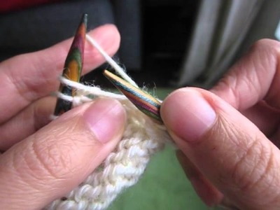 Continental Norwegian Knitting Purl and Knit stitches (for Sue)