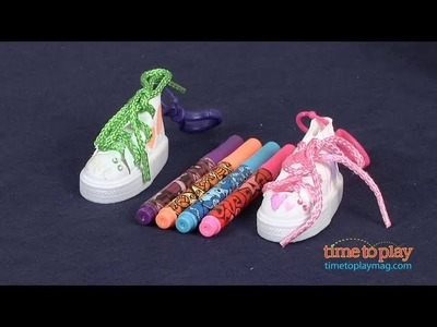 Craft Candy Bling your own.  Graffiti Kicks Clip-Ons from RoseArt