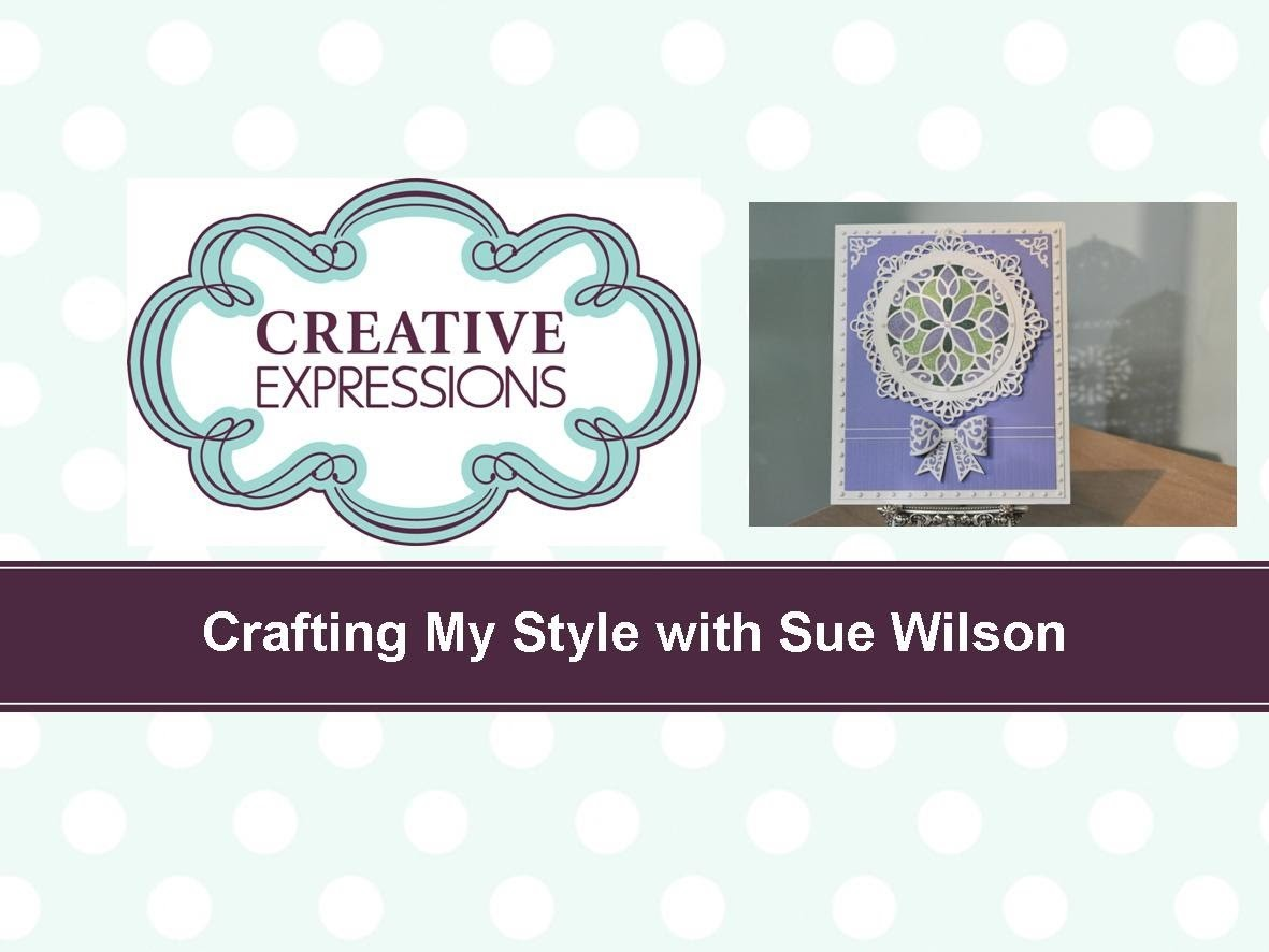 Craft Dies by Sue Wilson -- Tutorial Video; Stained Glass Window Card for Creative Expressions