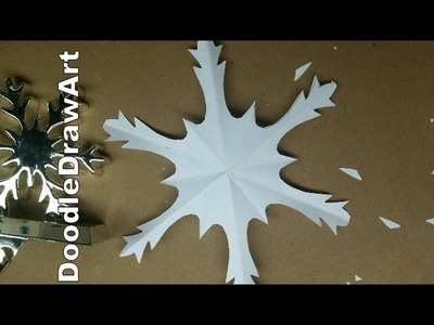 Craft:  Make a Paper Snowflake.  Snowflake #2.  Sweet Delicate and So Easy! Step by step