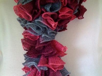 Crochet a Double Crochet Ruffled Scarf