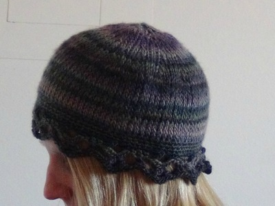 Crochet a Hat in Tunisian Knit Stitch Part 2