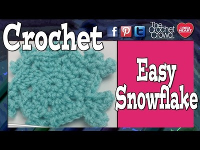 Crochet Simple Snowflake Tutorial