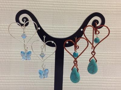 Dangling Heart Shape Earrings