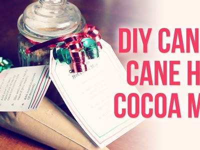 DIY Candy Cane Hot Chocolate { Easy Homemade Christmas. Holiday Gift Idea }