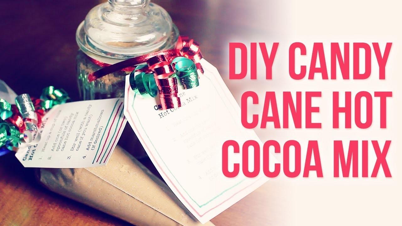 DIY Candy Cane Hot Chocolate { Easy Homemade Christmas. Holiday Gift Idea }