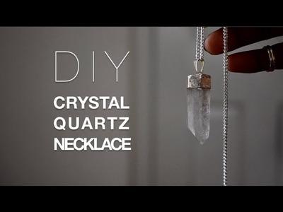 DIY Crystal Necklace +Giveaway Winner!