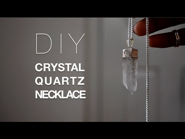DIY Crystal Necklace +Giveaway Winner!