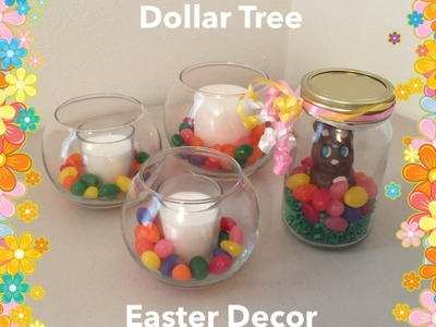 DIY Dollar Tree Easter Decor: Bunny In A Jar & Jelly Bean Candles!