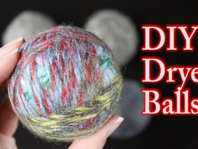 DIY Dryer Balls With Wool - Felted
