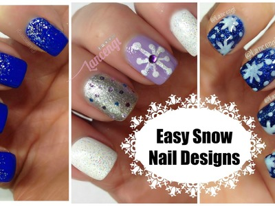 DIY Easy Cute Snowflake Christmas Nail Polish Art Designs For Beginners - The Ultimate Guide #1