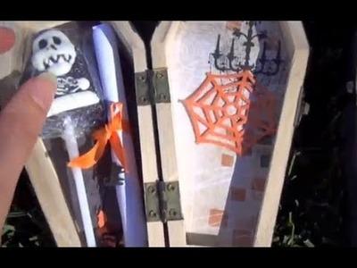 DIY Halloween Party Invitations - Trick Or Treat Coffins + Creative Ideas!!!