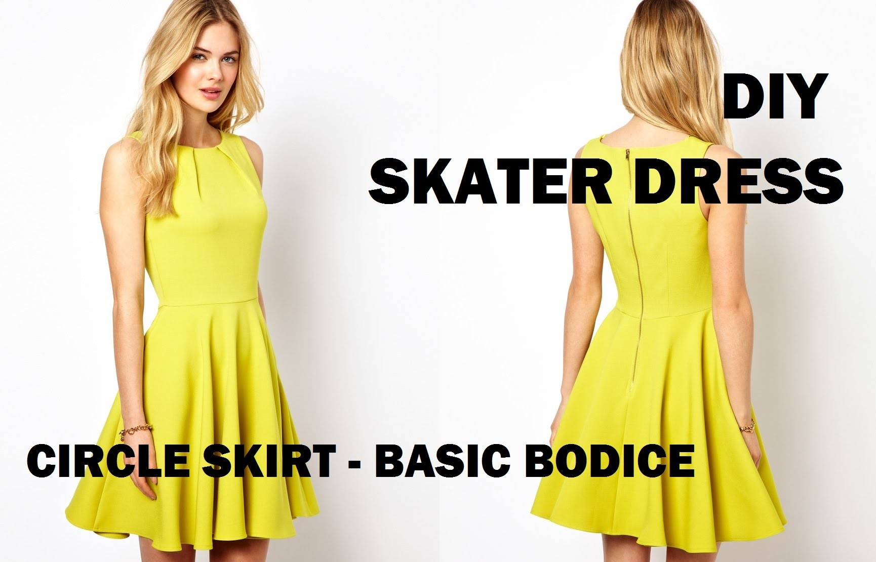 DIY   HOW TO MAKE A SKATER DRESS (CIRCLE SKIRT)