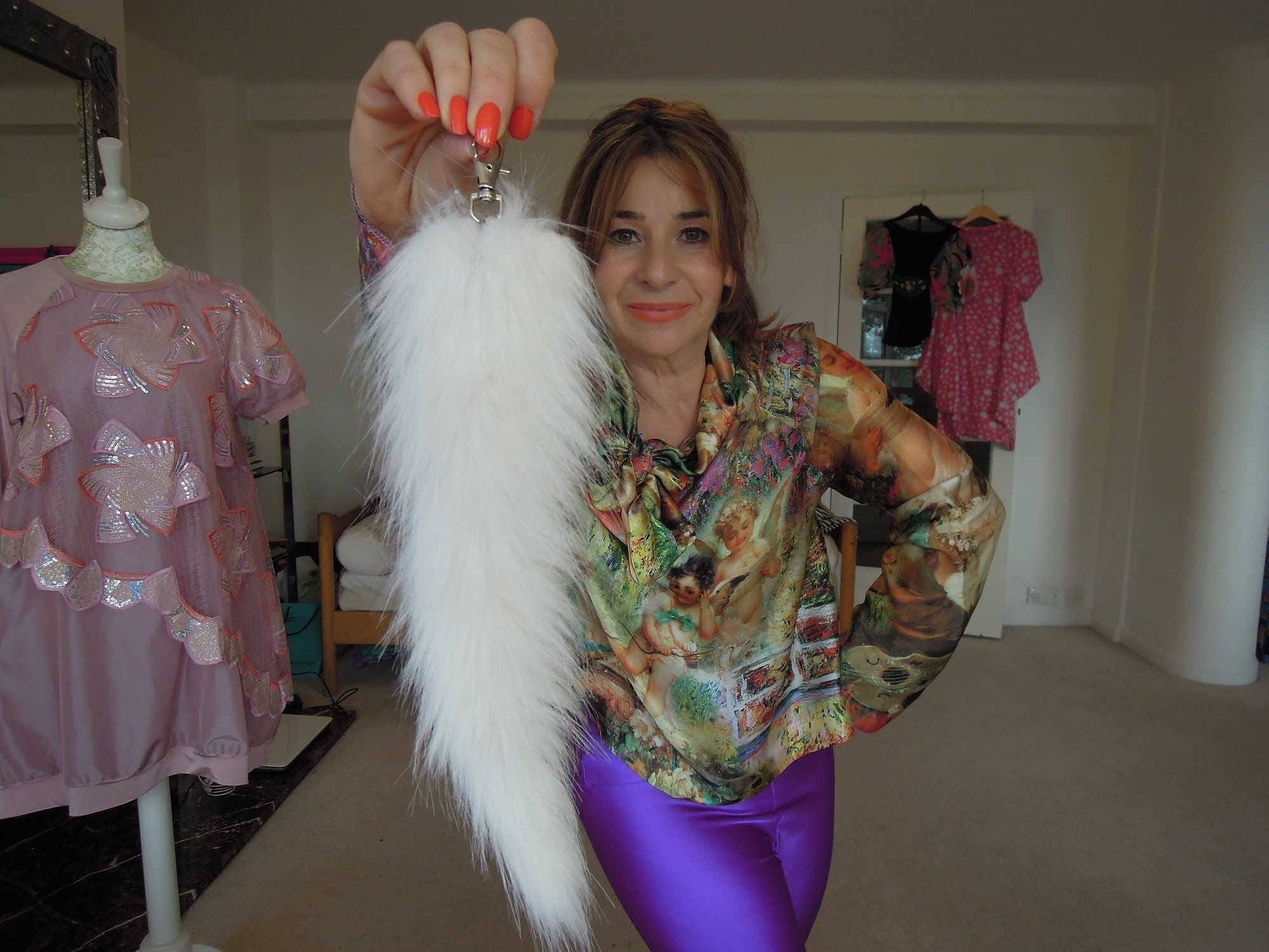DIY How to sew a foxtail style keyring