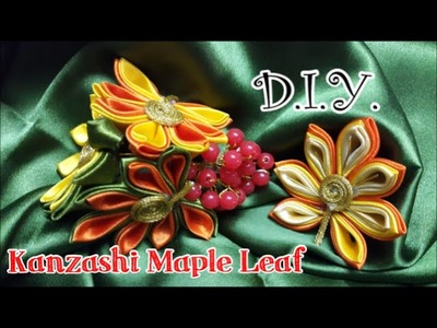 D.I.Y. #Kanzashi Maple Leaf - Tutorial