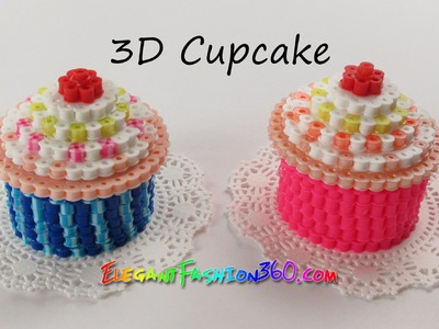 DIY Perler.Hama Beads Cupcake 3D - How to Tutorial by Elegant Fashion 360